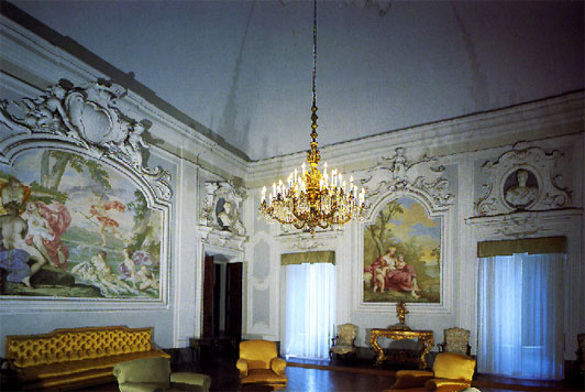 View of the hall on the main floor